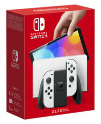 Nintendo Switch Oled Model /w White Joy-con Color Handheld Console In Hand