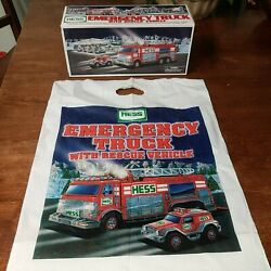 Hess 2005 Emergency Truck With Rescue Vehicle Original Box And Bag