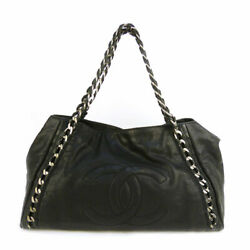 Chain Shoulder Bag Luxury Line Black Silver Fittings Previously No.4324