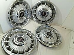 1964 Olds Deluxe Hub Caps 14 Set Of 4 Stainless And Chrome  - H266