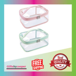 Clear Makeup Bag Cosmetic Bags for Women Clear Travel for Toiletries 2pcs NEW $20.99