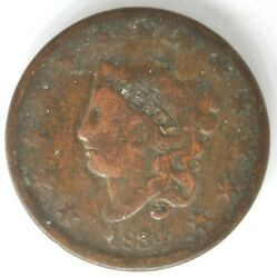 1834 Liberty Matron Head Coronet Large Cent Us Copper Penny Coin Small Eight