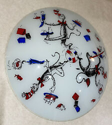 Vintage 1979 Cat In The Hat Vintage Light Fixture. Glass Light Cover