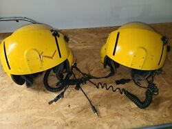 Helicopter Pilot Helmet Dual Visor With Comm. Qty 2