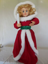Vintage Telco Motionette Caroler Animated Lighted With Candle S085