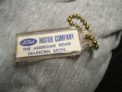 Vintage 1960' S Ford Accessories Nos Promo Fomoco Auto Key Holder Fob Part Oe Gt