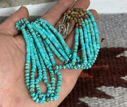 23 Southwest Tri-strands Turquoise Heishi Necklace/gorgeousy241l-w1