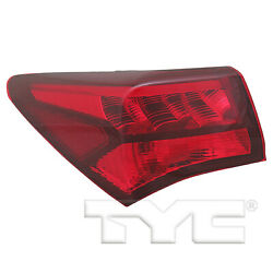 Outer Quarter Tail Light Rear Lamp Left Driver For 15-17 Acura Tlx