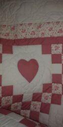 Beautiful Handmade Hand Quilted Antique King Size Quilt Signed Ribbon For...