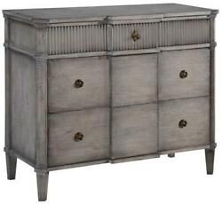 St Denis Console Chest Of Drawers Greige Wood Distressed 3 Drawers Soft Gl