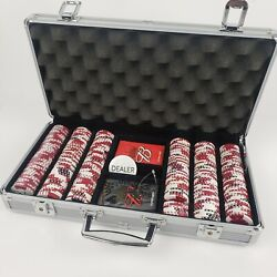 Budweiser 318 Chips Poker Dice Chip Set Texas Hold'em - Some Contents Unopened