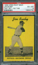 1958 Hires Root Beer Test Set Jim Busby Psa 6 Baltimore Orioles