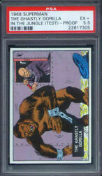 1968 Topps Superman In The Jungle Test Set The Ghastly Gorilla Psa 5.5