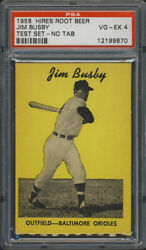 1958 Hires Root Beer Test Set Jim Busby Psa 4 Baltimore Orioles