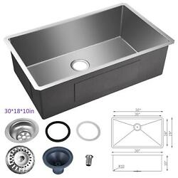 30farmhouse Sink Apron Hammered Stainless Steel Handcrafted Single Bowl Kitchen