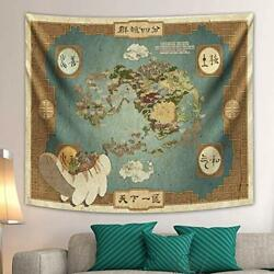 Avatar The Last Airbender Tapestry Map Backdrop Anime Wall Tapestry
