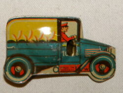 Jouet Sifflet Camion Tole Vintage Tin Penny Toy Litho Truck Whistle Germany Nanddeg1