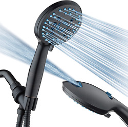 8-mode Handheld Shower Head - Antimicrobial Nozzles, Built-in Power Wash Clean