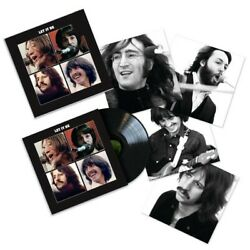 The Beatles Let It Be Exclusive Black Colored Vinyl Lp And 4 Collectible Prints