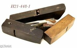 Old Antique Shipwrights Boat Planes Lignum Island Stock Wood Wooden Molding Tool