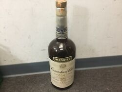 Vintage 1 Gallon Hiram Walker And Sons Canadian Club Whiskey Glass Bottle