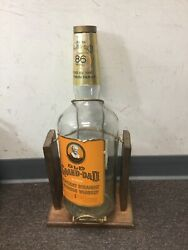 Vintage Old Grand-dad Straight Bourbon Whiskey Bottle And Stand 1 Gallon Empty