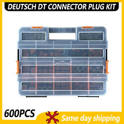 Usa 600 Pcs Deutsch Dt Genuine Connector Kit 14-16awg Stamped Contacts
