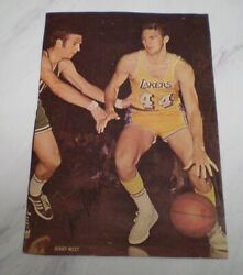 Jerry West Hand Signed Autographed 5 X 6 Mag. Clipping Hall Of Fame Member