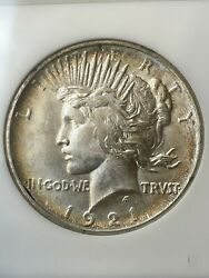 1921 P Ngc Ms62 High Relief Peace Silver Dollar Old Fatty