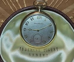 Audemars Piquet Pocket Watch Solid Gold 18k With Box Fully Servised Rare