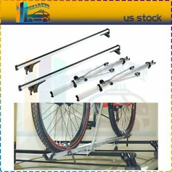 Top Roof Rack 2x Crossbar Package + 2x Rack Bicycle For Silver 50 Universal