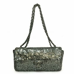 Spangle Chain Shoulder Bag Silver Previously Owned No.5403