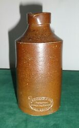 Antique Vitreous Stoneware Bottle J. Bourne And Son Denby Pottery Ink