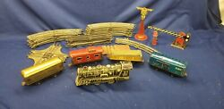 Pre-war Marx Electric Train 897 Locomotive Cars Track And Extras