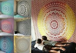 Mandala Rectangle Tapestry Bohemian Wall Hanging Pared Indian Woven Tapestry