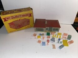 Amloid Vintage My Dolly's Doll House And Furniture O O27 S Gauge Box Plasticville