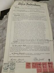 Vintage 1954 Warranty Deed Palm Beach County Florida Belle Glade doc stamps $100.00