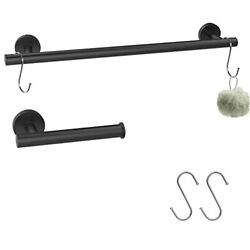 Cnwnp 2 Pieces Bathroom Hardware Set 304 Stainless, Towel Rack Set Easy To Insta