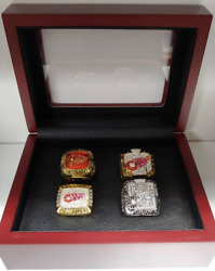 Detroit Red Wings - 4 Stanley Cup Champion Ring Set Yzerman Lidstrom Glasgow