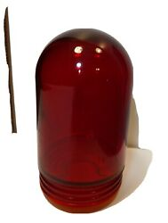 Vintage Red Glass Lamp Light Globe Threaded Safety Explosion Proof