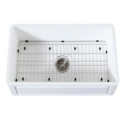 Gourmetier Farmhouse Kitchen Sink With Strainer And Grid Kgkfa301810ld