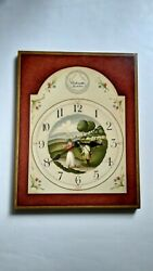 Unique Golf Themed Solid Wood Wall Clock Made In Italy R Simonetto Wood Art Euc