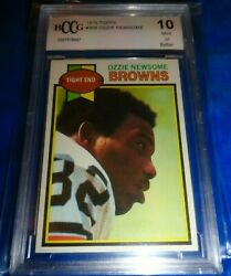 1979 Topps Football Ozzie Newsome Rookie 308 Bccg 10 Mint + Well Centered