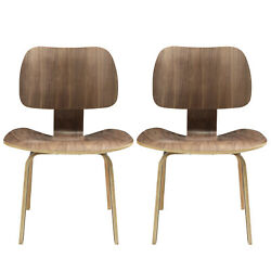 Modway Fathom Dining Chairs Set Of 2 Eei-870-wal