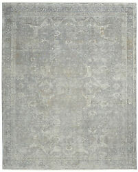 Nourison Starry Nights 8'6 X 11'6 Silver And Cream Area Rug 099446737571