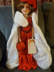 Rare Old Country Store Doll Ruby Cracker Barrel American Classic Porcelain.