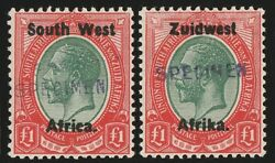 South West Africa 1923 Setting Iii Kgv Andpound1 English And Afrikaans Specimen. Mnh .