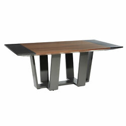 Zimlay Contemporary 6-seat Natural Wood Dining Table 74228