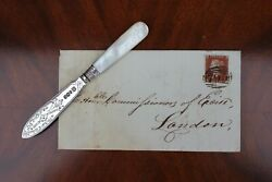 A Rare Delicate Victorian Letter Opener By Cooper Brothers, Sheffield 1895/6