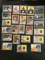 Baseball Clubhouse Collection Game Used Memorabilia 24 Cards In Total